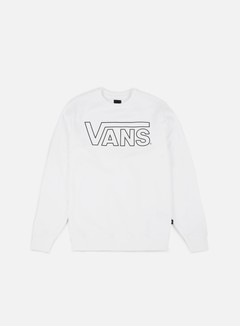 Vans - Classic Crewneck, White/Black Out