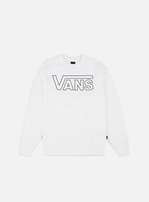 felpe vans classic crewneck white black out
