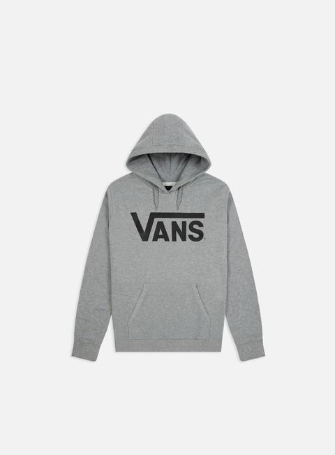 felpe vans classic hoodie concrete hether black