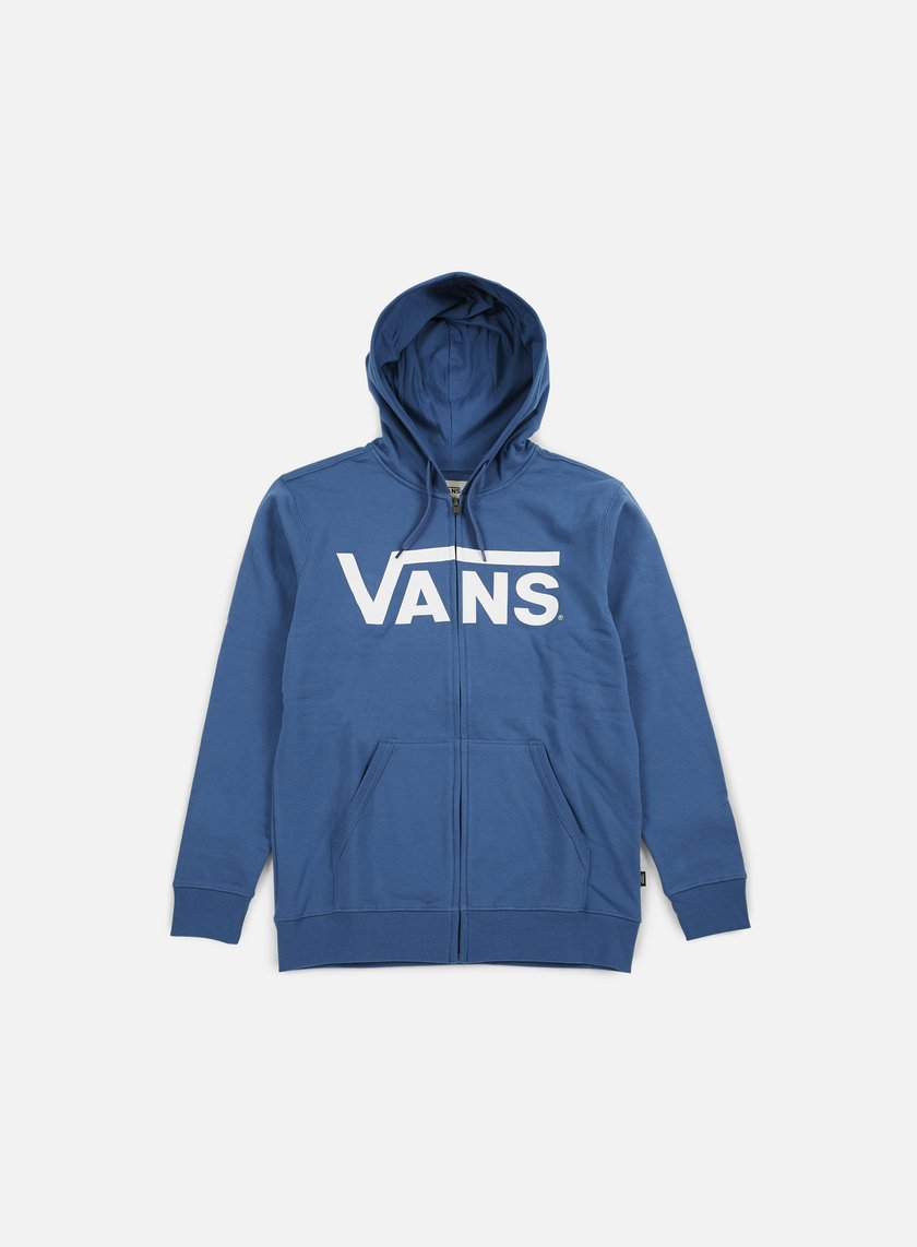 Vans - Classic Zip Hoodie, Blue Ashes/Bright White