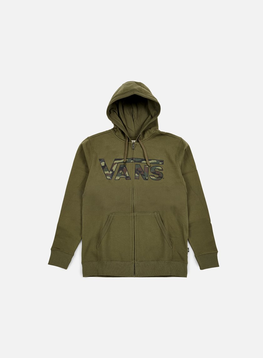 Vans - Classic Zip Hoodie, Grape Leaf/Camo