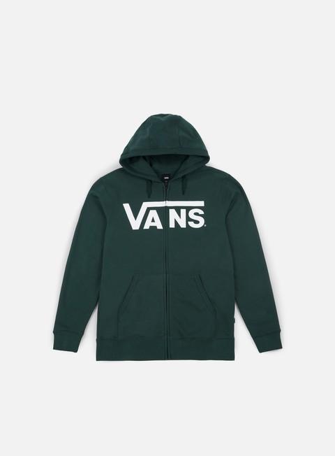 felpe vans classic zip hoodie vans scarab white