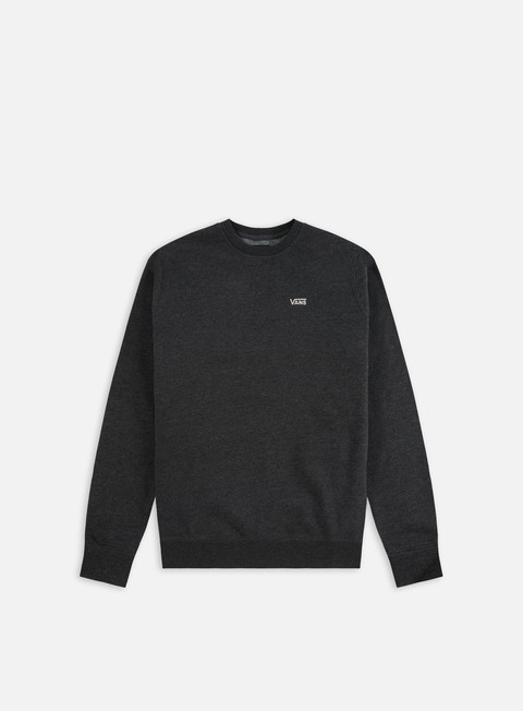 felpe vans core basic crewneck black heather