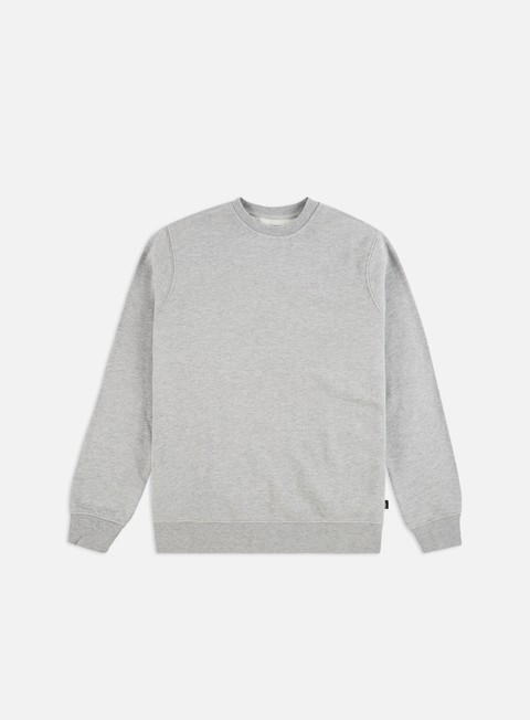 felpe vans core basic crewneck cement heather