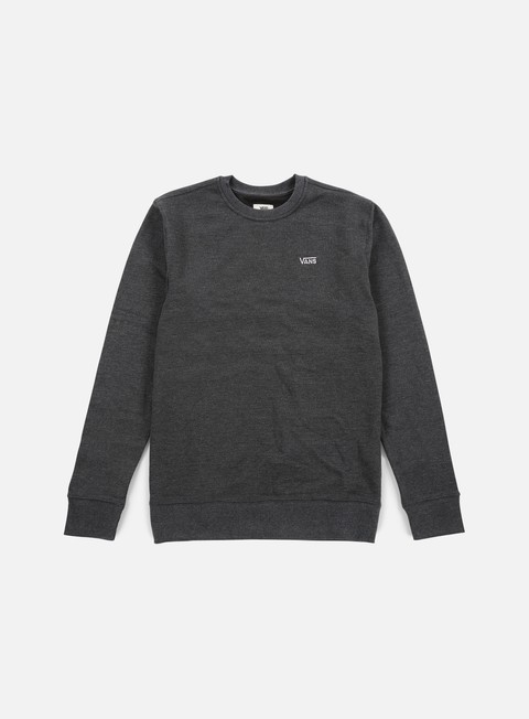 felpe vans core basic iv crewneck new charcoal heather
