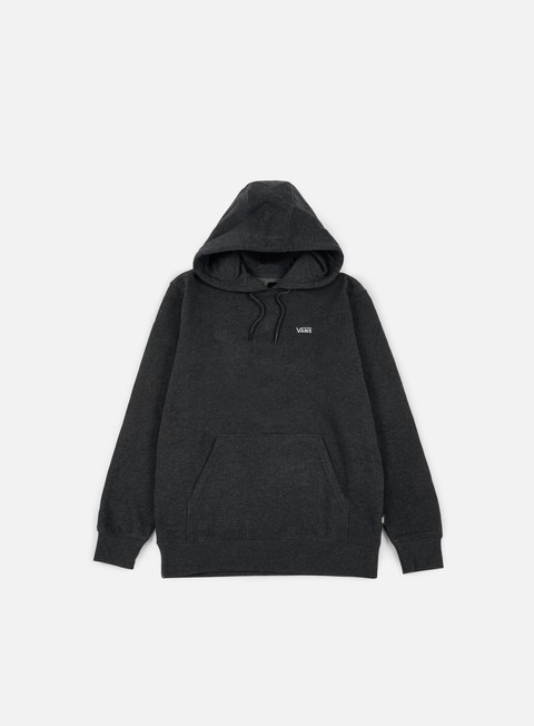 felpe vans core basics pullover hoodie black heather
