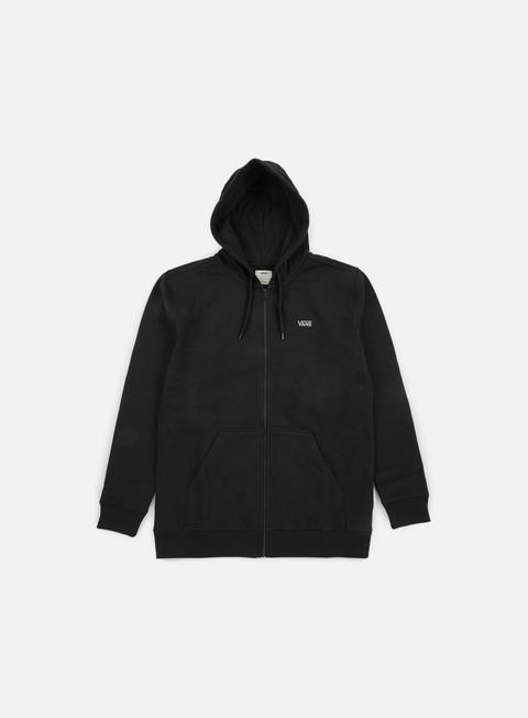 felpe vans core basics zip hoodie black