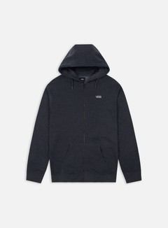 Vans - Core Basics Zip Hoodie, Black Heather 1