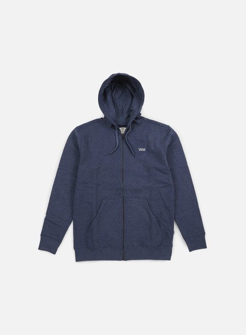 felpe vans core basics zip hoodie dress blues heather