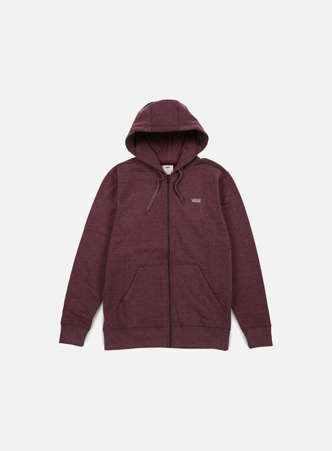 felpe vans core basics zip hoodie port royale