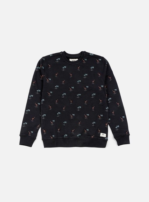 felpe vans cuttrell crewneck black flocking dead