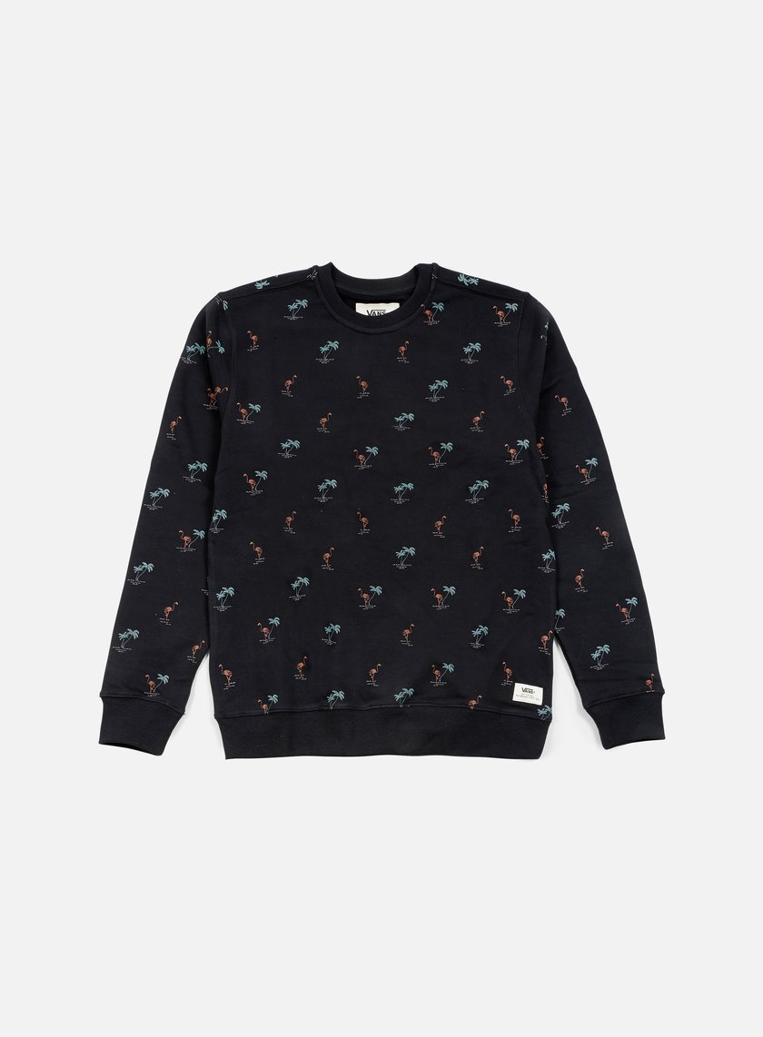 Vans - Cuttrell Crewneck, Black Flocking Dead