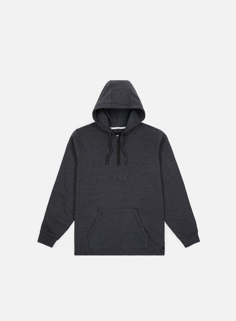 felpe vans easy box qtr zip hoodie black heather