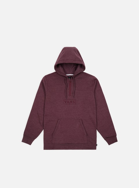 felpe vans easy box qtr zip hoodie port royale heather