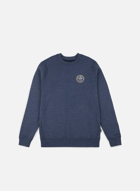 felpe vans established 66 crewneck dress blues heather