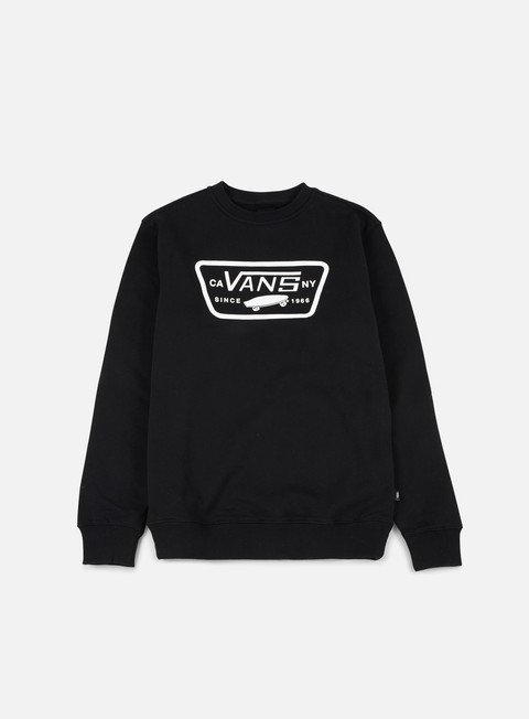 felpe vans full patch crewneck black