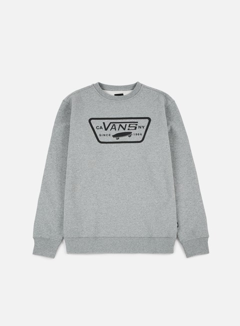 felpe vans full patch crewneck concrete heather
