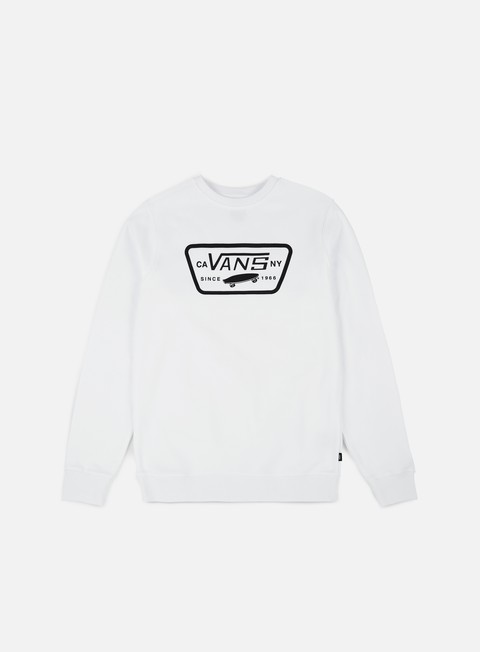 felpe vans full patch crewneck white