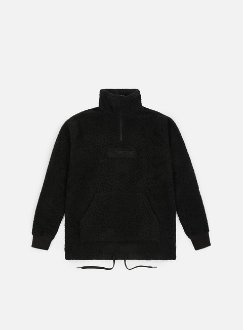 felpe vans global trespasser zip sweatshirt black
