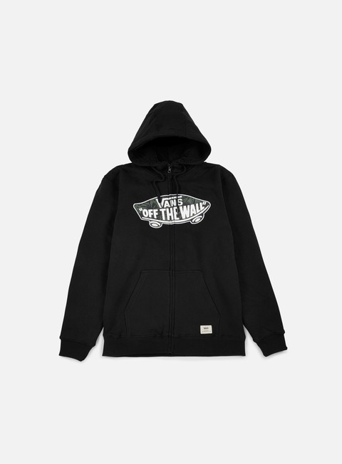 felpe vans hessel zip hoodie black indigo bloom
