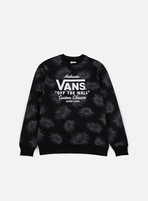 felpe vans holder print crewneck tonal palm