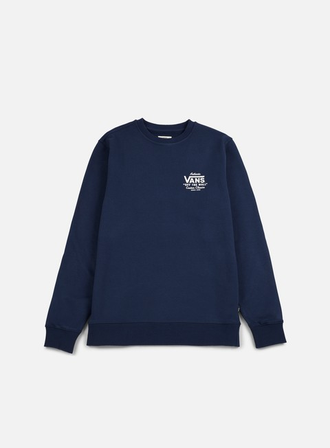 felpe vans holder street crewneck dress blue