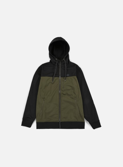 felpe vans liston zip hoodie grape leaf black