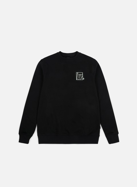 felpe vans new checker crewneck black