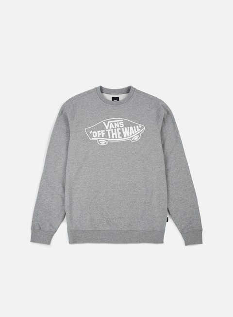 felpe vans otw crewneck cement heather white outline