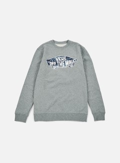 Vans - OTW Crewneck, Concrete Heather/Indigo Bloom