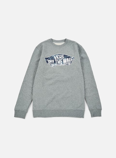 felpe vans otw crewneck concrete heather indigo bloom