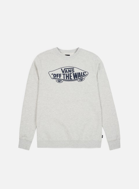felpe vans otw crewneck white heather navy outline
