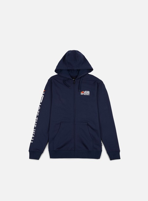 felpe vans peaks camp fz hoodie dress blues