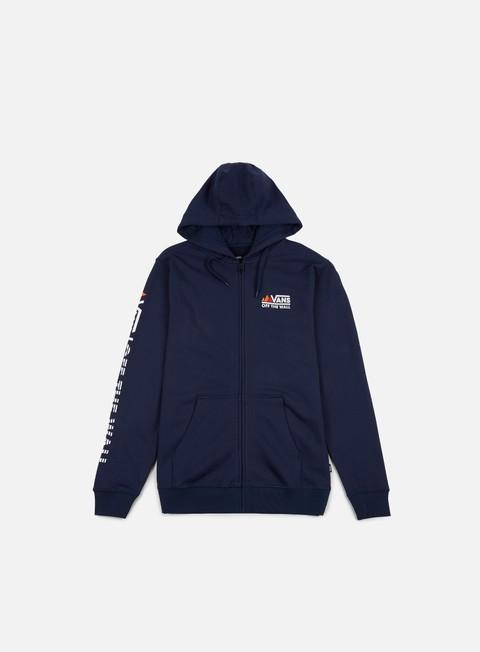 felpe vans peaks camp fz hoodie dress blues