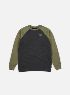 Vans - Rutland Crewneck, Black Heather/Grape Leaf Heather