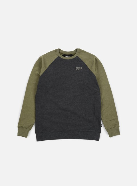 felpe vans rutland crewneck black heather grape leaf heather