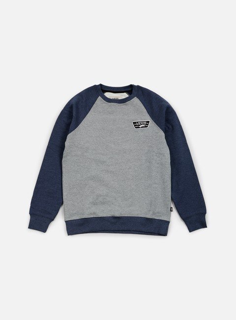 felpe vans rutland crewneck concrete heather dress blues heather