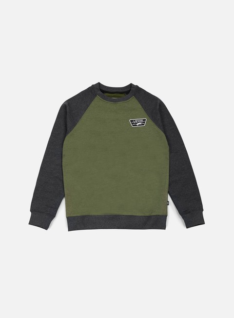 felpe vans rutland crewneck rifle green black heather