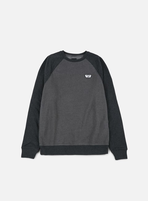 felpe vans rutland ii crewneck asphalt heather black heather