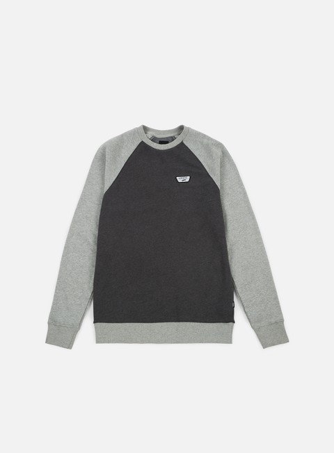 felpe vans rutland ii crewneck asphalt heather concrete heather