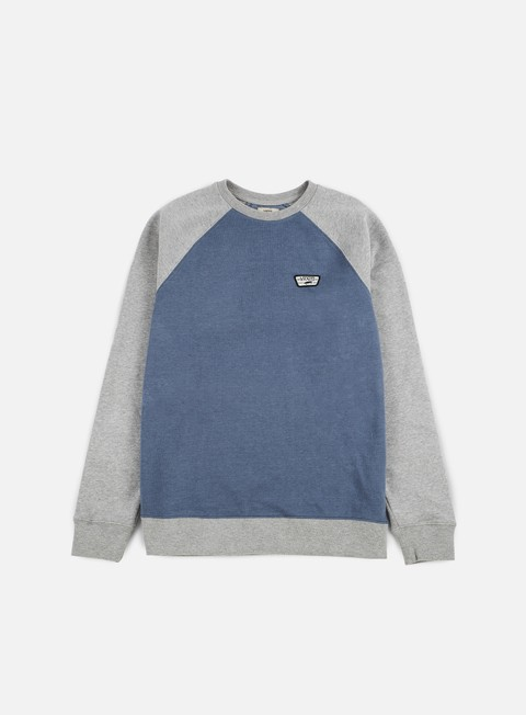 felpe vans rutland ii crewneck blue mirage heather grey