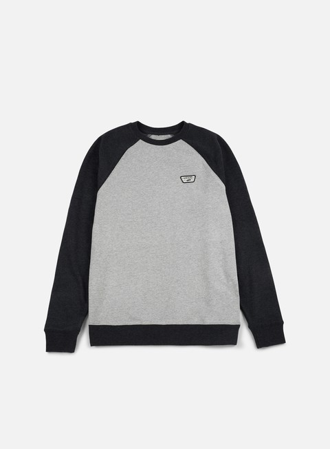 felpe vans rutland ii crewneck cement heather black