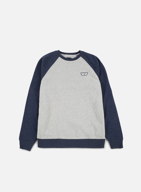 felpe vans rutland ii crewneck cement heather dress blues