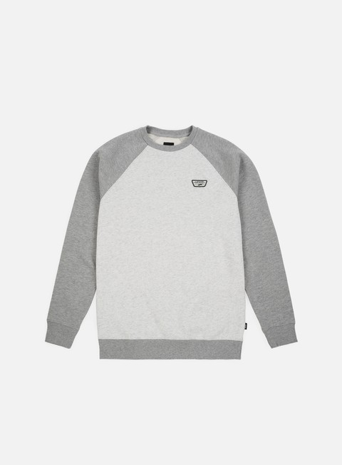 felpe vans rutland iii crewneck white heather cement heather