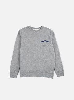 Vans - Side Stripe Pocket Crewneck, Concrete Heather 1