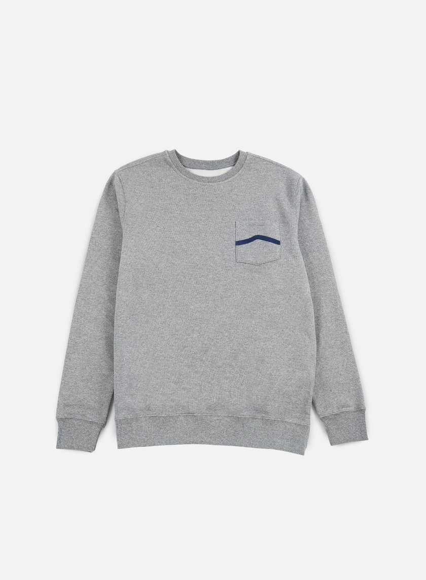Vans - Side Stripe Pocket Crewneck, Concrete Heather