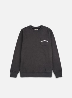 Vans - Side Stripe Pocket Crewneck, New Charcoal 1