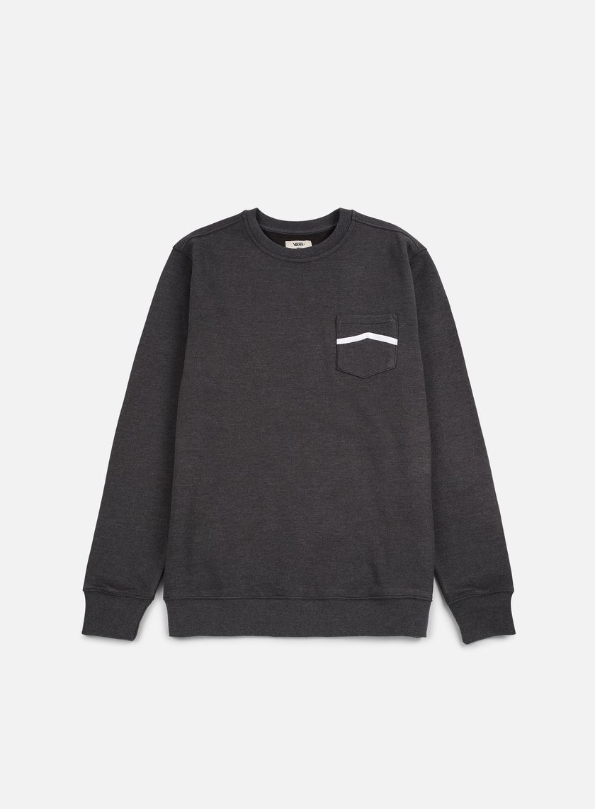 Vans - Side Stripe Pocket Crewneck, New Charcoal