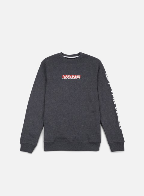 felpe vans side waze crewneck black heather