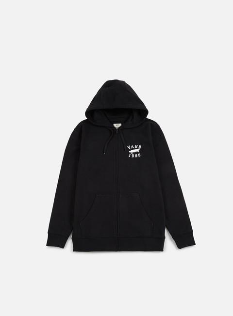 felpe vans stitched zip hoodie black